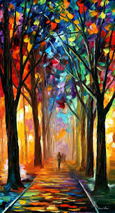 paint dream alley of the dream palette knife oil painting on canvas by