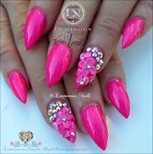 3d flower nail art designs