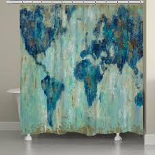 World Map Curtains by Shower Curtains Map Nujits Com