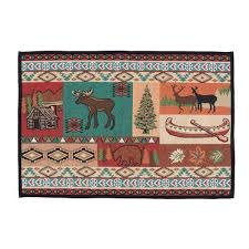 Turquoise Rug 5x7 Rustic Wildlife Rugs Including Moose And Bear Rugs Black Forest