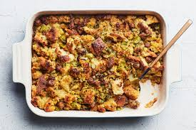 our favorite thanksgiving stuffing with sausage and cornbread