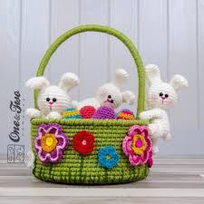 bunny easter basket bunnies easter basket crochet pattern