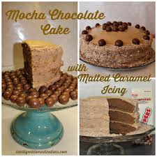 mocha chocolate cake with malted caramel icing intelligent
