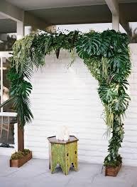 wedding arch greenery 16 wedding backdrop ideas with greenery the bohemian wedding
