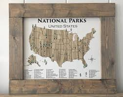 us map states national parks national park map etsy
