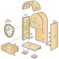 Free Wooden Clock Movement Plans by Woodworking Clock Plans Plans Diy Free Download Free Wood Twin Bed