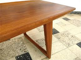 danish teak coffee table with boat shaped top 1960s for sale at