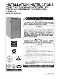 rheem furnace installation manual 1 furnace duct flow