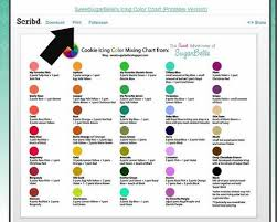 New Colors Best 25 Icing Color Chart Ideas On Pinterest Color Mixing Food