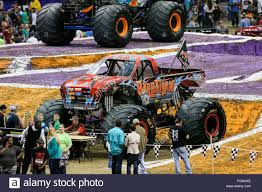 monster jam new trucks new orleans la usa 20th feb 2016 barbarian monster truck in