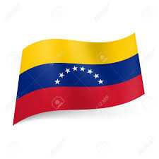Flag With Cross And Stripes National Flag Of Venezuela Yellow Blue And Red Horizontal