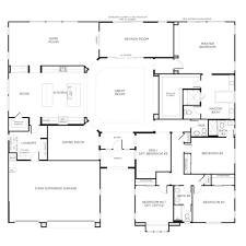 5 bedroom one story floor plans gallery with house on any pictures