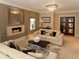 unique long living room with fireplace in middle rectangular the