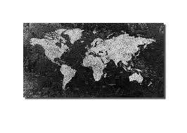 World Map Canvas Art by World Map Large Black And White World Map World Map Canvas