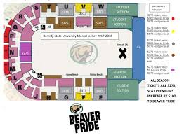 United Center Seating Map Hockey Single Game Tickets Official Site Of Bemidji State Athletics