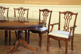 Antique Reproduction Dining Chairs Antique Reproduction Solid Mahogany Chippendale Dining Chairs