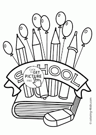 printable back to school coloring pages sheets supplies page