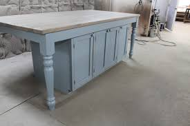 coastal blue oak kitchen island featured in rhode island home