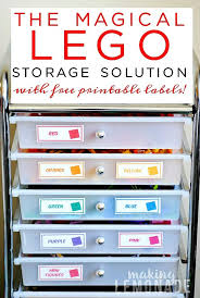 the magical lego organizing solution u0026 free printable labels