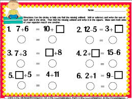 free balance the equation common core aligned printable for first