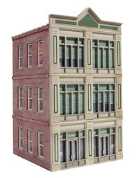 ameri towne o scale 1st national bank 3 story building kit
