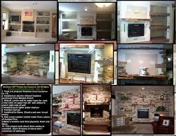 custom installation electric fireplace gallery