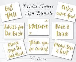 bridal shower signs gold bridal shower signs 8x10 bridal shower decorations