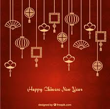 asian ornaments garlands new year background vector free