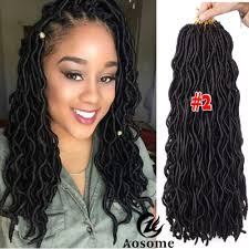 crochet hair extensions 3 packs 20 freetress wavy faux locs hair extensions goddess
