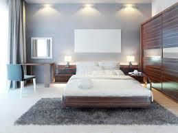 chambre style moderne vue de de la chambre à coucher dans un style moderne