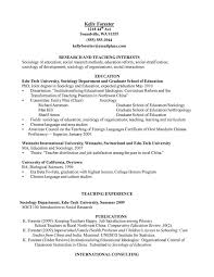 Resume Samples Education Section by Sociology Resume Free Resume Example And Writing Download