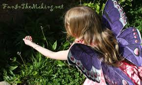 handmade butterfly fairy wings made from recycled materials on