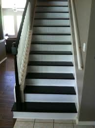 red oak stair treads stained kona lewan plywood risers paint
