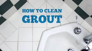 how to clean bathroom grout youtube
