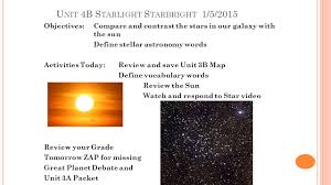 Maps To The Stars Review T He Sun And Stars Unit 3 The Sun Is A Star Unit 3a Starlight