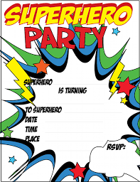 free printable superhero party invitations just click and