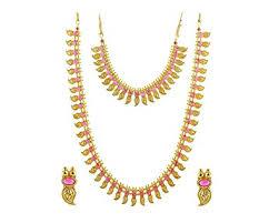 wedding jewellery sets gold buy manav company traditional mango necklace haram set gold plated