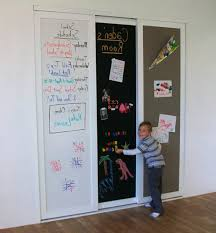 Painting Sliding Closet Doors Chalkboard Paint On Closet Doors 1 Chalkboard Erase Corkboard