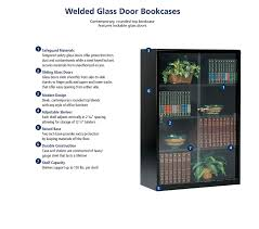 tennsco 352gl heavy gauge steel executive bookcase with glass