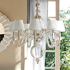 anya blown glass chandelier white shades serena u0026 lily