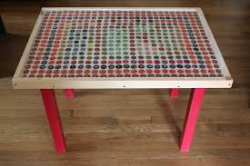 beer cap table top how to make an upcycled bottle cap table herban lifestyle