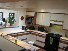 Ideas For Refacing Kitchen Cabinets by Refaced Kitchen Cabinets For An Open Floorplan Home Remodeling Ideas