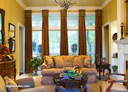 curtain ideas for large windows living room window curtain