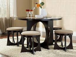 Dining Room Table Sets For Small Spaces Dining Table Black Wooden Dining Table And Brown Wooden