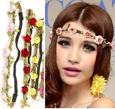flower bands wedding floral hair band bridesmaid boho floral flower festival