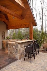 Outside Patio Bar by Outdoor Patio Bar Ideas Patio Tropical With Beige Outdoor Cushions