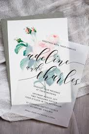 Wedding Invitation Card Diy Gasp Worthy Translucent Wedding Invitation With Vintage Rose