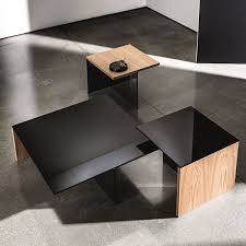 Uk Coffee Tables Regolo Square Glass And Wood Coffee Table Klarity Glass Furniture