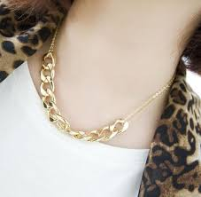 chain link necklace with images Gold tone double chain link necklace wholesale yiwuproducts jpg
