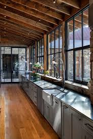 rustic farmhouse kitchen ideas rustic farmhouse kitchen ideas kitchen rustic with steel window